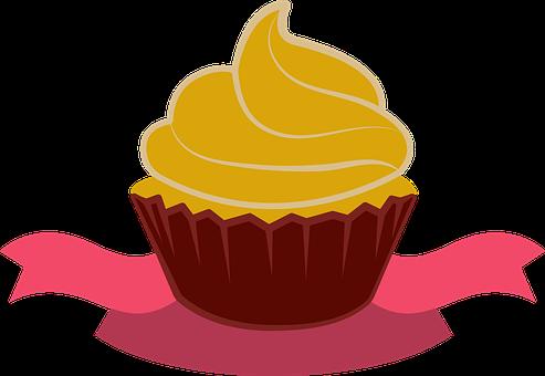 Cupcake, Dessert, Food, Frosting, Cream, Swirl, Pastry