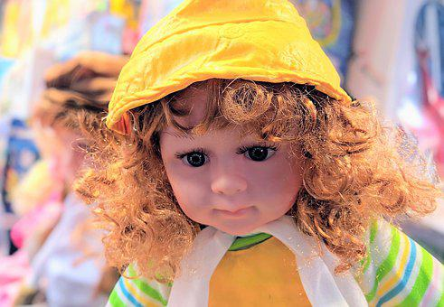 Doll, Toy, Girl, Cute, Baby Doll, Child, Kid, Curly