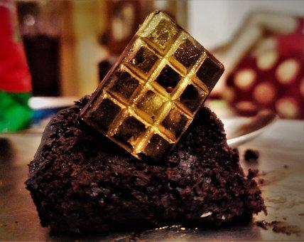 Cake, Chocolate, Dessert, Golden Chocolate, Brownie