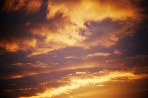 Sunset, Sky, Clouds, Atmosphere, Cloudy, Dusk, Twilight