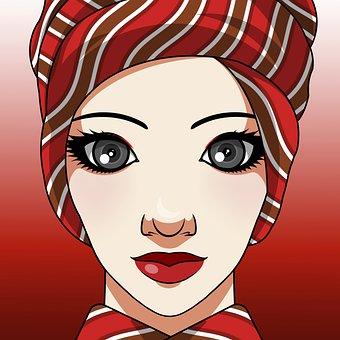 Woman, Turban, Smile, Elegant, Beauty, Beautiful