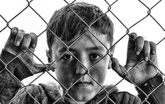 Child, Boy, Fence, Wire Mesh, Face, Kid, Young