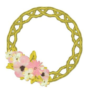 Frame, Wreath, Flowers, Leaves, Willow, Woven