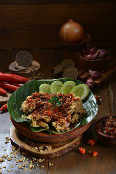 Chicken, Spice, Sauce, Vegetables, Fried Chickenpre
