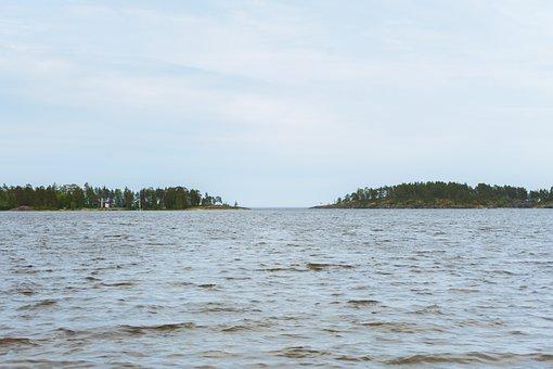 Lake, Island, Water, Ladoga, Nature, Tranquility
