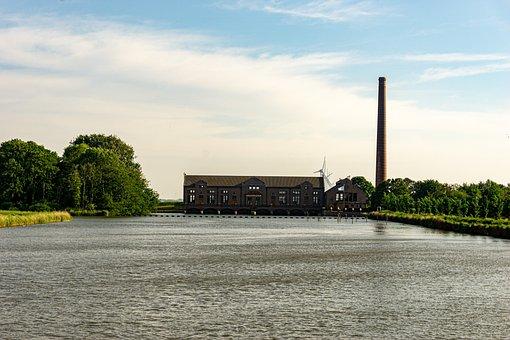 Building, Monument, Lake, Lemmer, River, Lagoon, Water