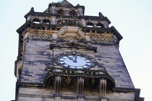 Town Hall, Tower, Clock, Landmark, Old Building