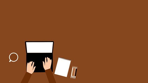 Remote Working, Workspace, Laptop, Brown, Digital Nomad