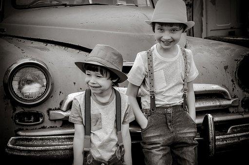 Boys, Friends, Fashion, Monochrome, Childhood Friends