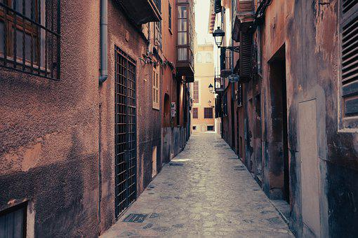 Old Town, Alley, Abandoned, Street, Buildings, Narrow
