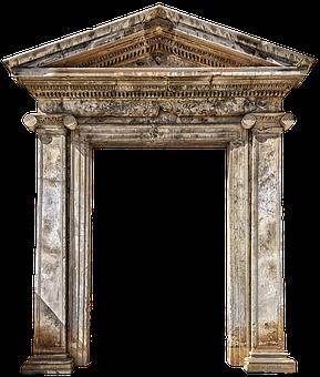Entrance, Stone, Ruin, Old, Rome, Italy, Architecture