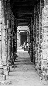 Building, Pillars, Old Delhi, Architecture, Outdoors