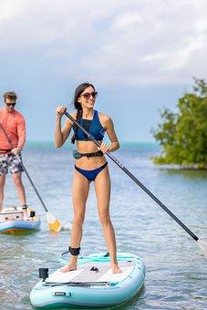 Standup Paddleboarding, Paddling, Sea, Paddle Board