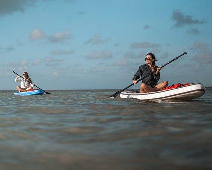 Paddle Boards, Paddling, Sea, Paddles