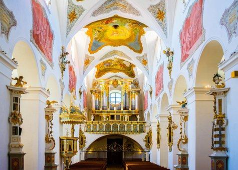Church, Chapel, Altar, Organ, Religion, Architecture