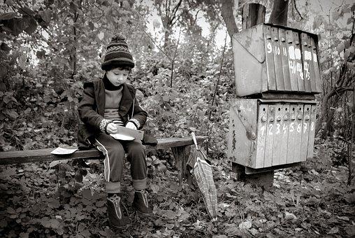 Kid, Childhood, Retro, Monochrome, Boy