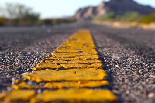 Road, Asphalt, Yellow Line, Road Marking, Pavement