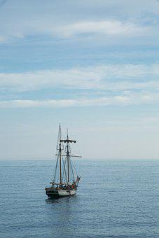 Boat, Sailing, Sea, Vessel, Ship, Sailboat, Sail
