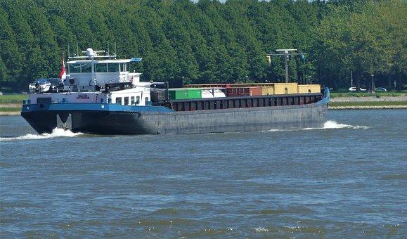 Cargo Ship, River, Transport, Ship, Container Ship