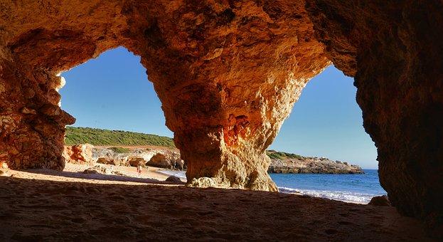 Beach, Ocean, Sea, Cliff, Shoreline, Coastline, Coast