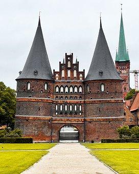Holstentor, Building, Landmark, Lübeck, Facade