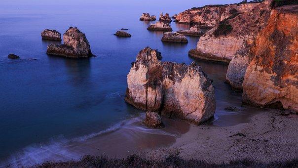 Ocean, Sea, Cliff, Shoreline, Coastline, Coast, Beach