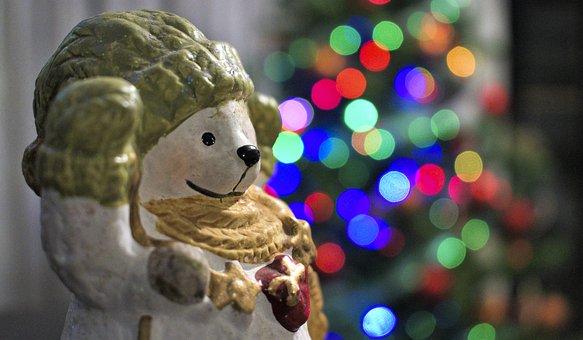 Christmas, Bear, Figurine, Decoration, Decorative