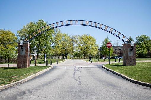 Kent State University, Gate, Entrace, Road, Path