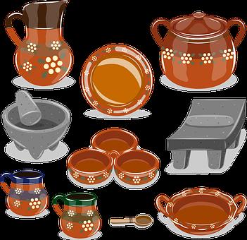 Crockery, Craft, Mexican, Mud, Molcajete, Metate, Food