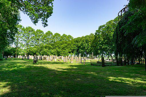 Cemetery, Grave Stones, Forest, Halloween, Holland