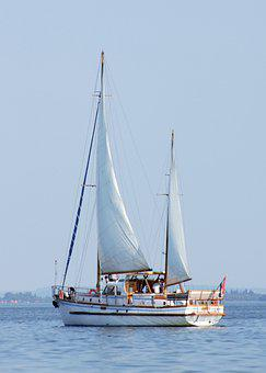 Ship, Sailing, Lake, Sail, Mast, Sailing Boat, Water