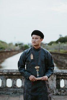 Man, Ao Dai, Model, Portrait, Fashion