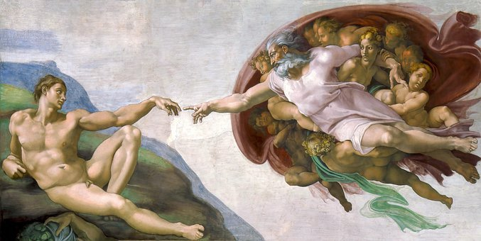 Painting, The Creation Of Adam, Michelangelo