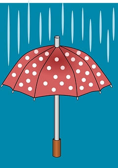 Umbrella, Rain, Weather, Wet, Partly Cloudy