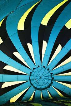 Hot Air Balloon, Fabric, Colorful, Ballooning, Pattern