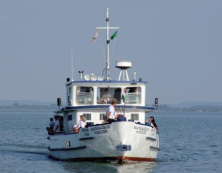 Ship, Lake, Travel, Cruise, Transport, Lake Balaton