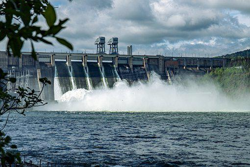 River, Hydroelectric Power Station, Cascade, Waterfalls