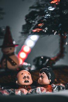Toys, Couple, Senior, Figurines, Man, Woman, Elderly