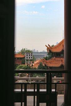 Yellow Crane Tower, City, Buidings, Urban, Tourism