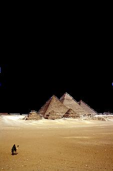 Desert, Pyramids, Camel, Sand, Ancient, Landscape