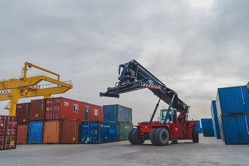 Crane, Shipping Container, Logistics, Lifting Crane