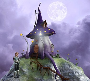 Fantasy, Mushroom House, Girl, Fairy Tale, Fairy, Dream