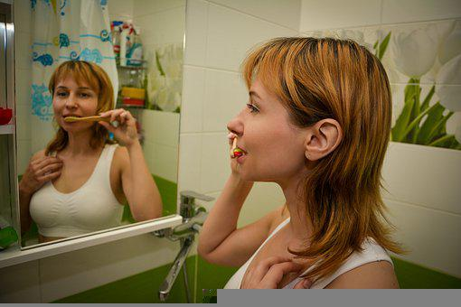 Tooth Brushing, Hygiene, Woman, Routine