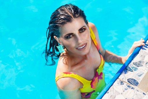 Woman, Swim, Swimsuit, Model, Style, Makeup, Fashion
