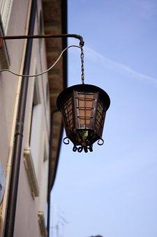 Street Lamp, Light, Old, Building, Street Light