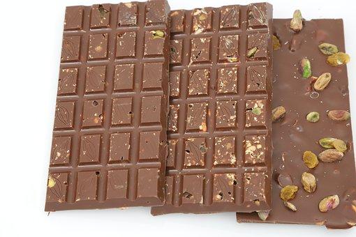 Pistachio Chocolate Bar, Chocolate, Praline, Nuts