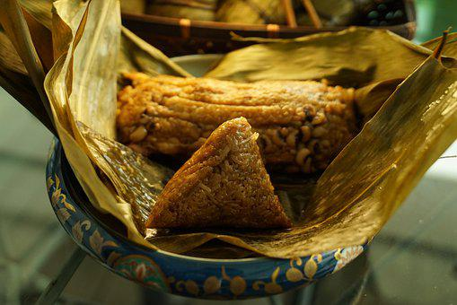 Zongzi, Sticky Rice Dumpling, Food, Rice Dish