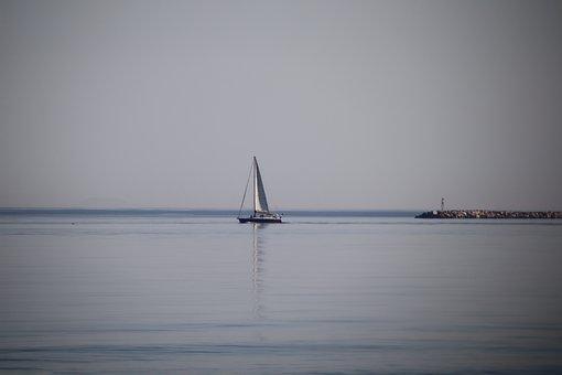Boat, Sailing, Sea, Ocean, Water, Reflection, Sailboat
