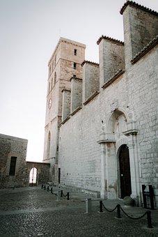 Castle, Building, Ibiza, Architecture, Facade, Historic