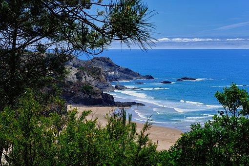 Beach, Coast, Sea, Ocean, Water, Coastline, Rocks